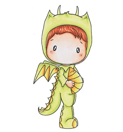 C.C. Designs - Clearstamp - Swiss Pixie - Dragon Hansel