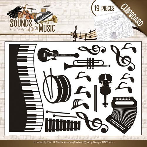 Amy Design - Chipboard - Sounds of music - Chipboard sounds of music