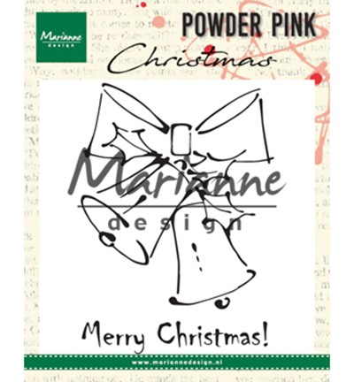 Marianne Design - Clearstamp - Powder Pink - Merry Christmas Bells