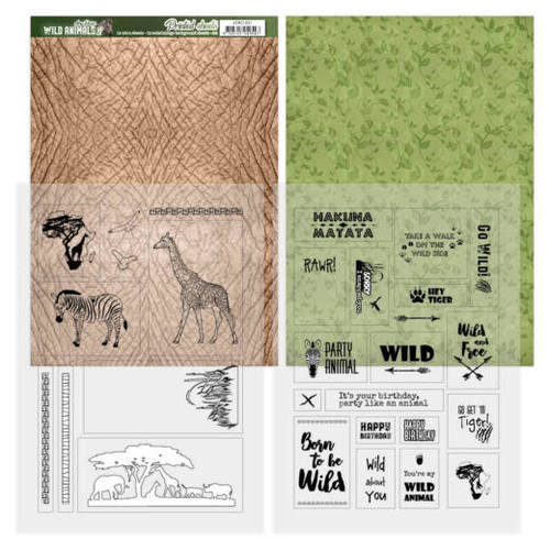 Amy Design - Printed Sheets - Wild Animals 2