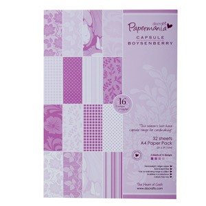 DoCrafts - A4 paper pack - capsule (32pk) boysenberry