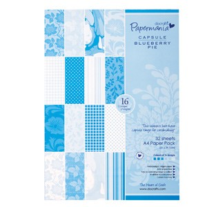 DoCrafts - A4 paper pack - capsule (32pk) blueberry pie
