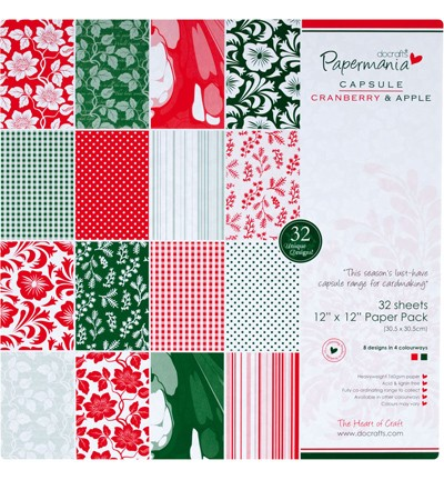12x12 Paper Pack - Capsule (32Pk) Cranberry & Apple