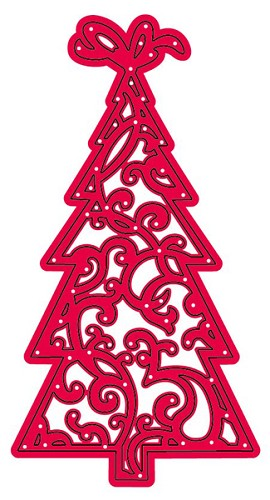 Crafts Too - Cutting and Embossing Stencils - Kerstboom